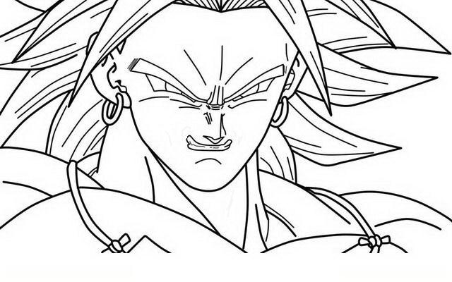 Imagenes De Dragon Ball Broly Para Colorear
