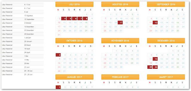 Download Kalender Pendidikan Tahun Ajaran 2016 / 2017