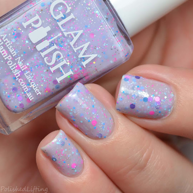purple crelly glitter nail polish