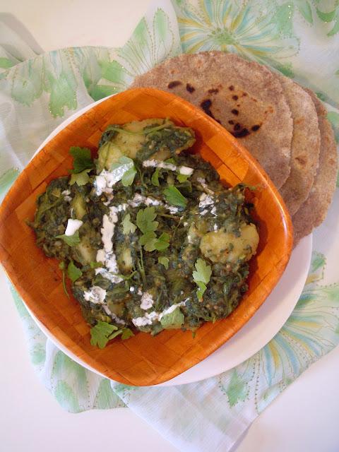 Indijska kuhinja spanać sa krompirom
