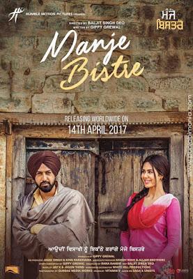 Manje Bistre 2017 Punjabi WEB HDRip 480p 200Mb HEVC x265