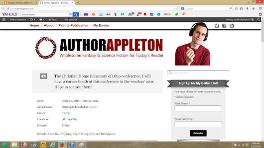It's Ready! Come on over to AuthorAppleton.com