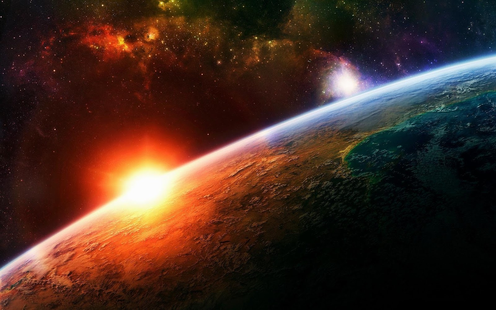 Galaxies Planets Wallpaper - Pics about space