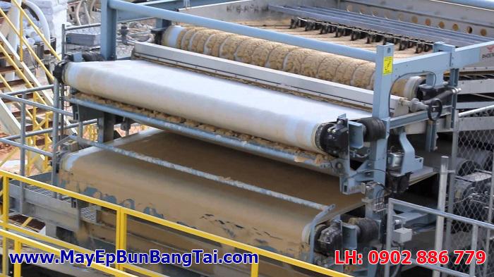 Máy ép bùn băng tải Đài Loan cho bùn thải sinh hoạt