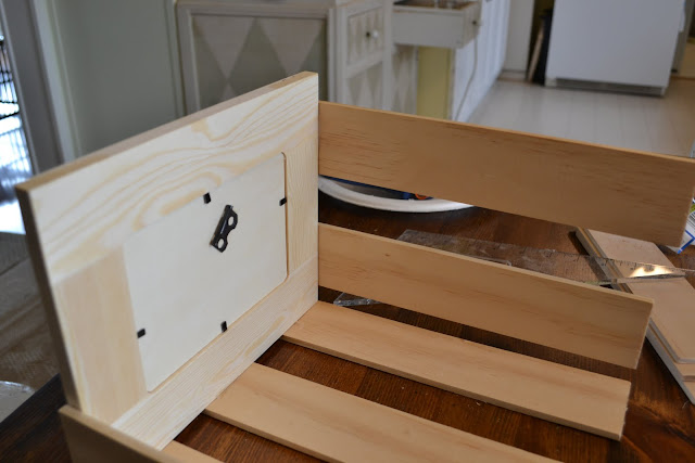 small crate with frame