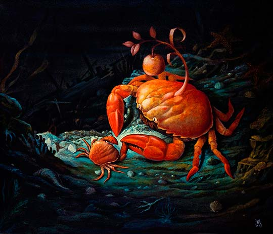 Pintura surrealista y autoaprendizaje por Mike Davis