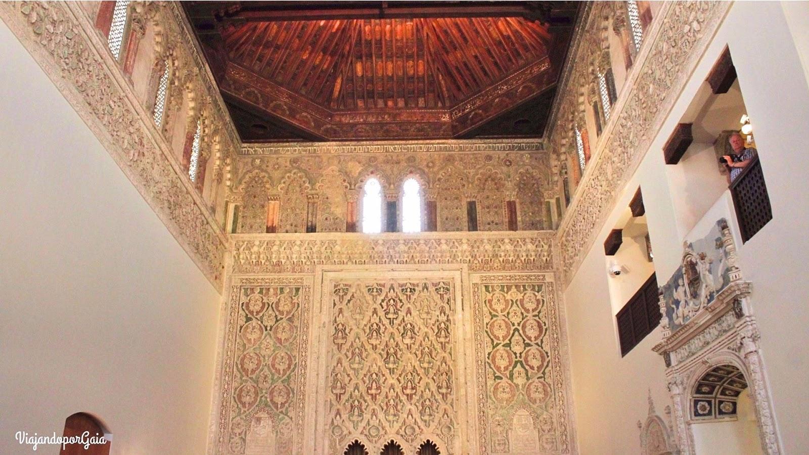 Interior de la Sinagoga El Tránsito o de Samuel Ha-Leví