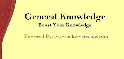 General Knowledge MCQ For SSC CGL- Set 3
