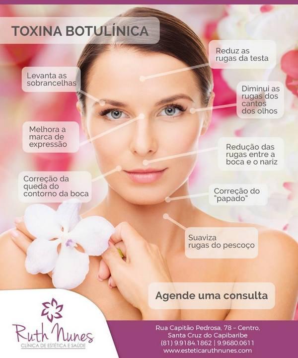 Aplicação de Botox é feita na Clínica Ruth Nunes