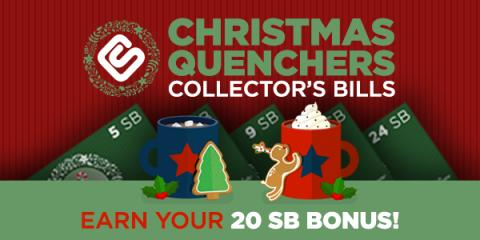 Image: this week's Christmas Quenchers Collector's Bills