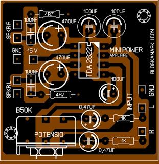 Membuat Power Mini stereo IC TDA