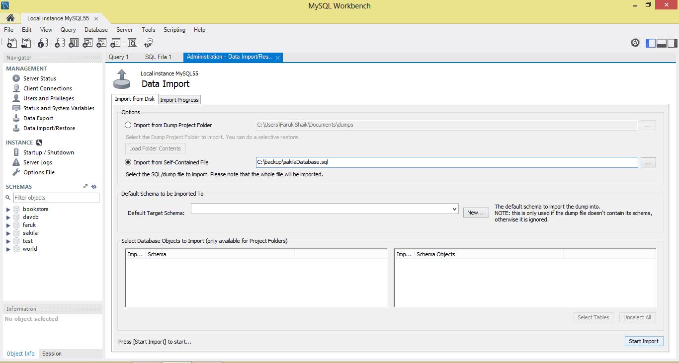 Data Export and Import using MySQL Workbench - StudywithDemo