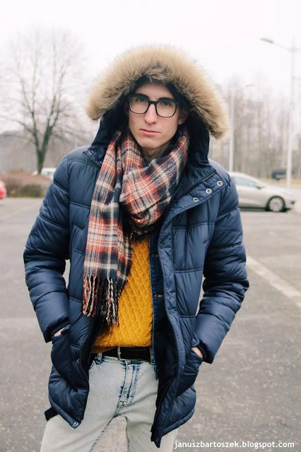 zimowy look z pikowaną kurtką i podziękowanie