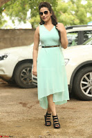 Manjusha in beautiful thin green gown At Jaya Janaki Nayaka le Logo Launch ~  Exclusive 130.JPG