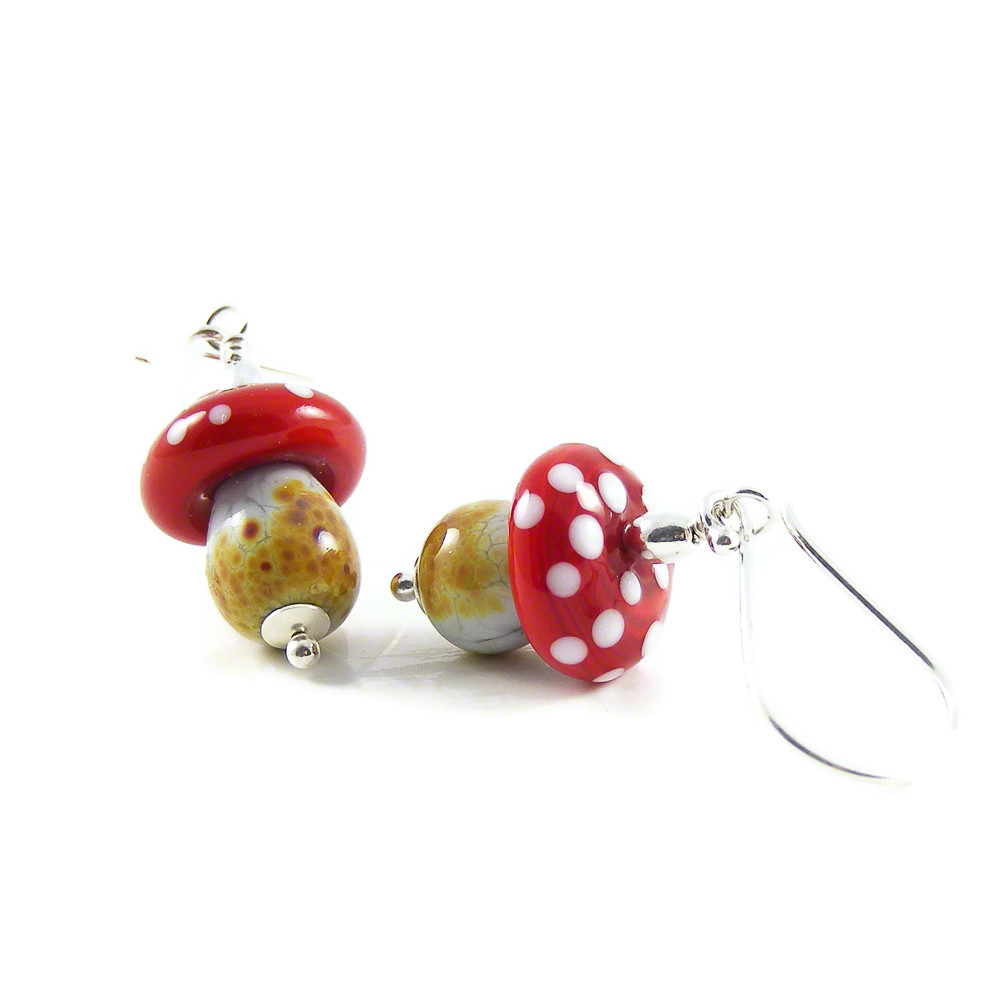 Magic Mushroom Earrings by Erika Price
