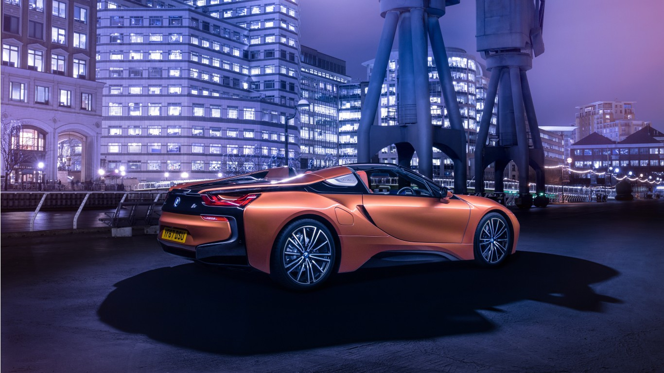 16 BMW I8 Roadster 4k Wallpapers
