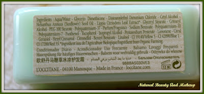L'Occitane Verbena Conditioner Ingredients