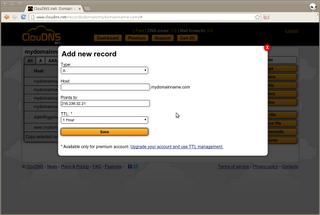 Configurer votre nom de domaine sur 1and1 avec cloudns