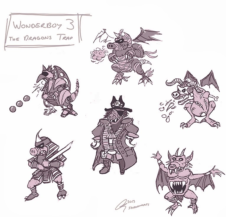 Wonderboy 3 - Boss dragons
