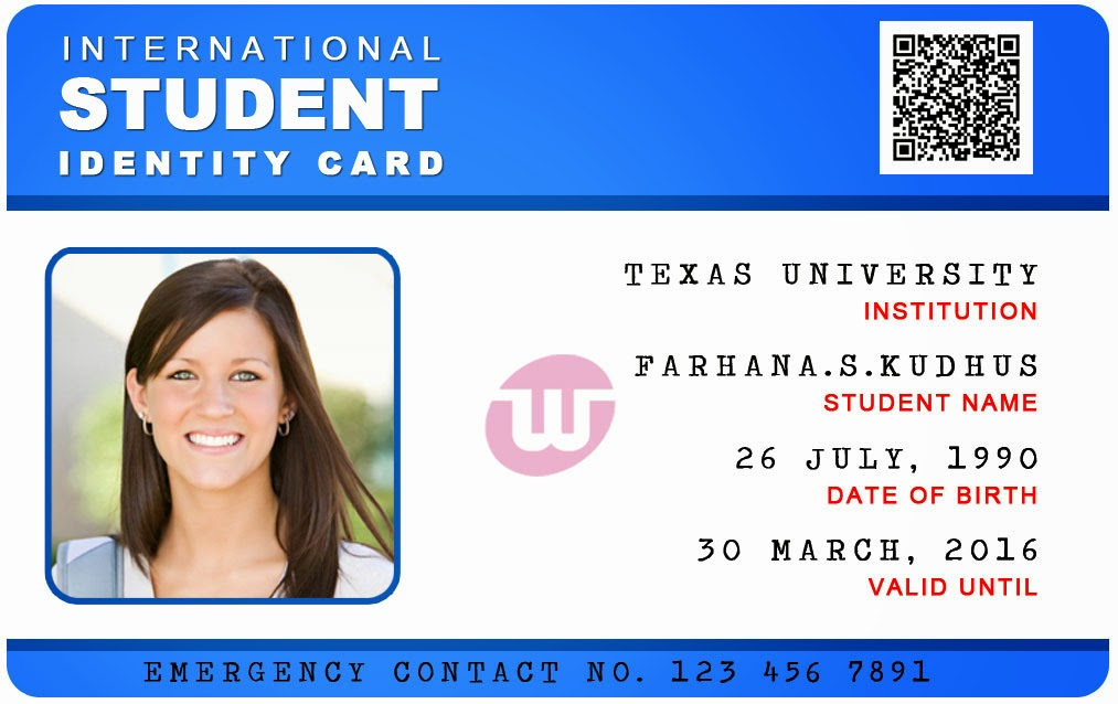 school student id card format - Romeolandinez - student identification card