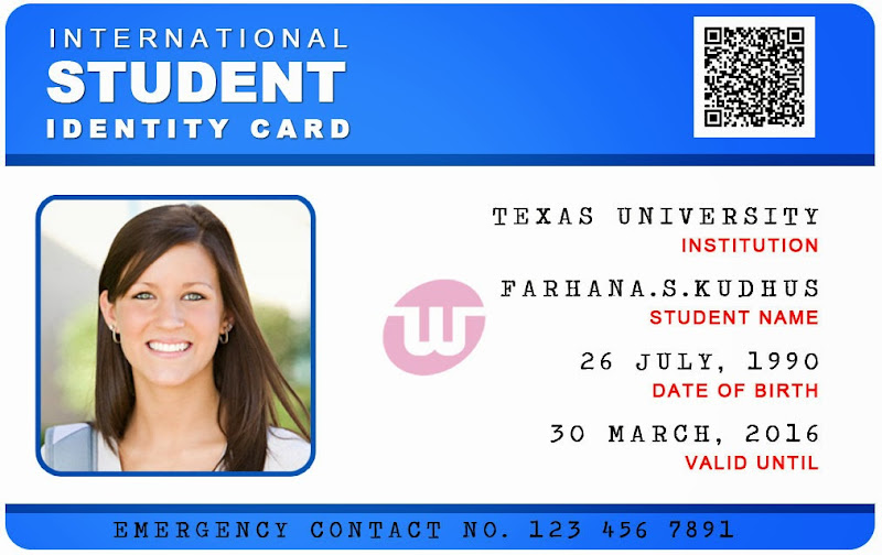 International Student Id Card Templates SidcC