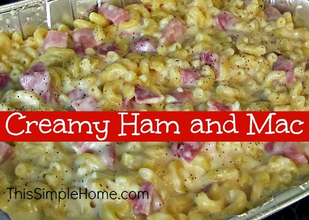macaroni and cheese with diced ham