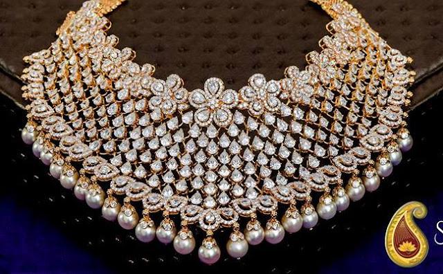 Diamond Choker by Swarnsri Jewellers