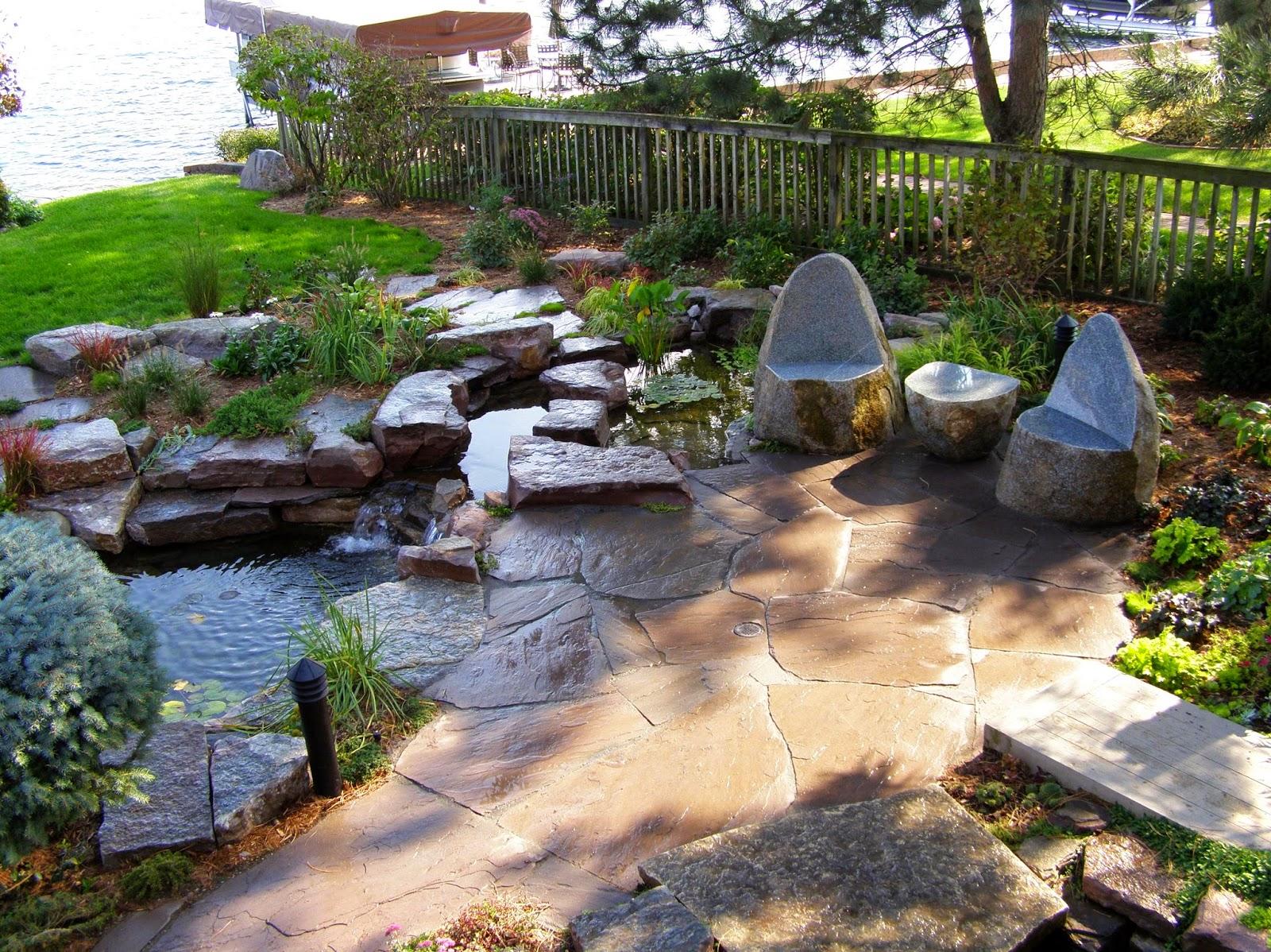 ideas best natural stone patio designs ideas stone patio home: diy patio pond