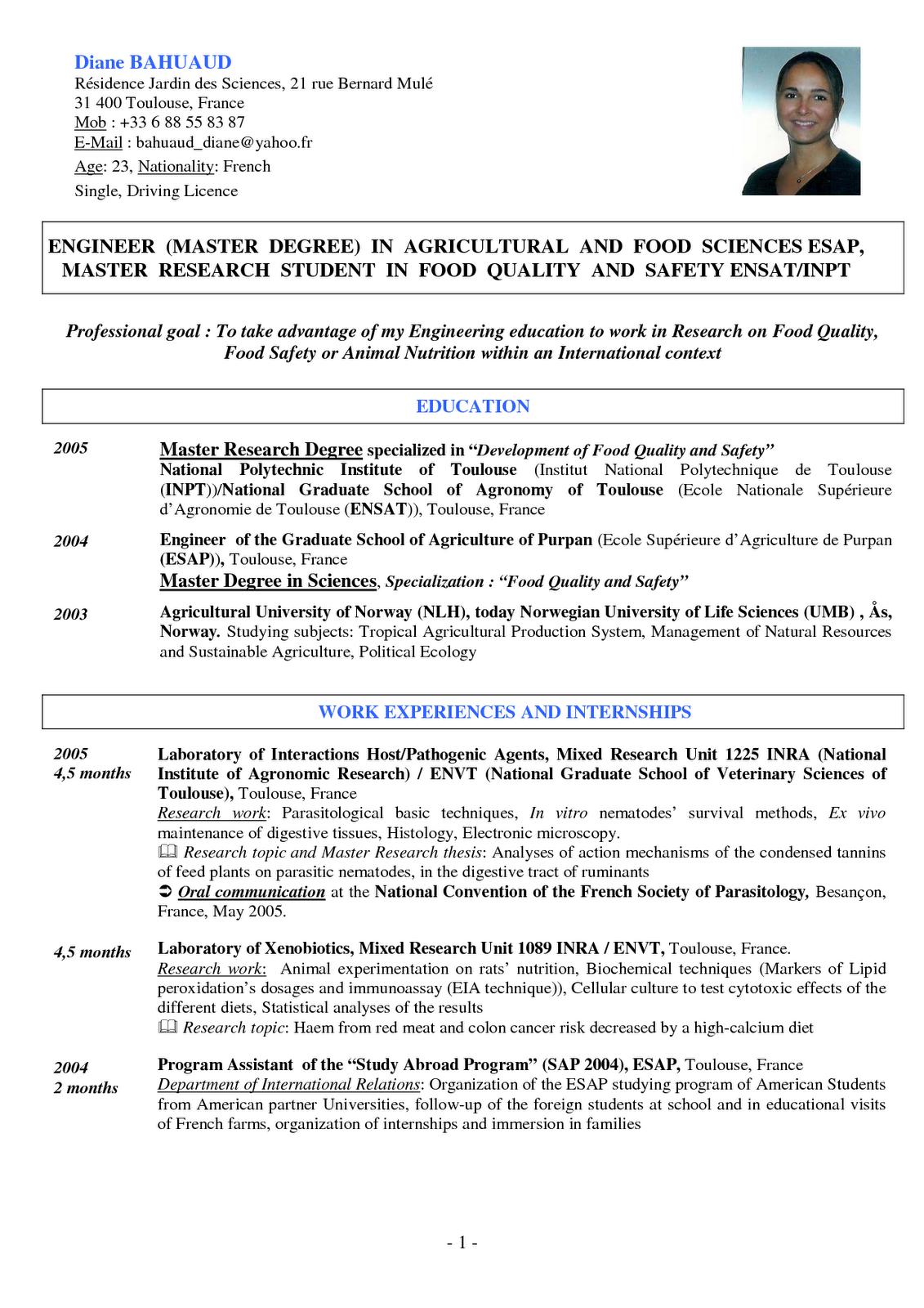 contoh cv dan resume dalam bahasa inggris