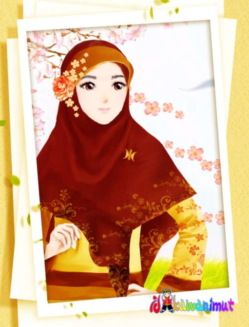 Gambar Kartun Hijab Bertopi Nusagates