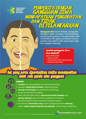 poster kesehatan tentang gangguan kejiwaan