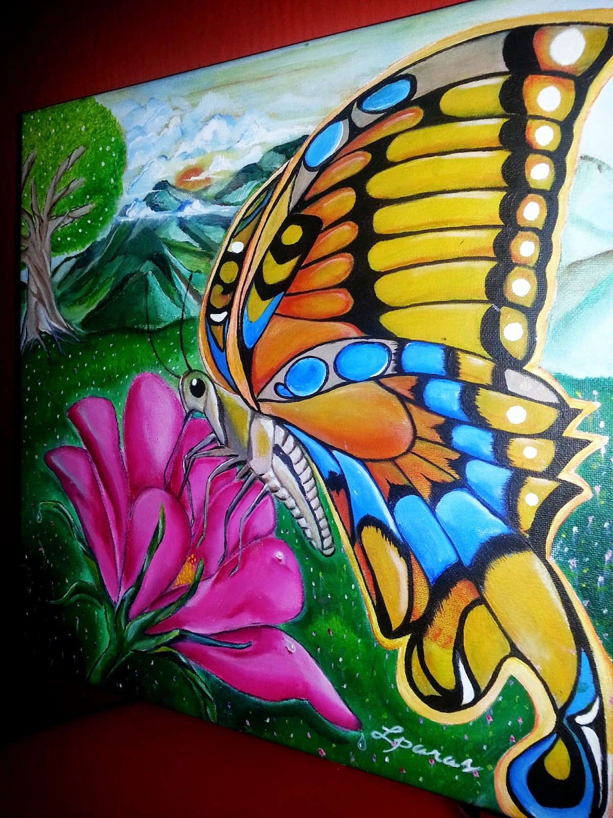 Personal Encounters: Butterfly Acrylic Painting with Title ...