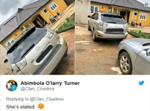 Excited Mum Gets A Car As Birthday Gift From Her Son (Photos)