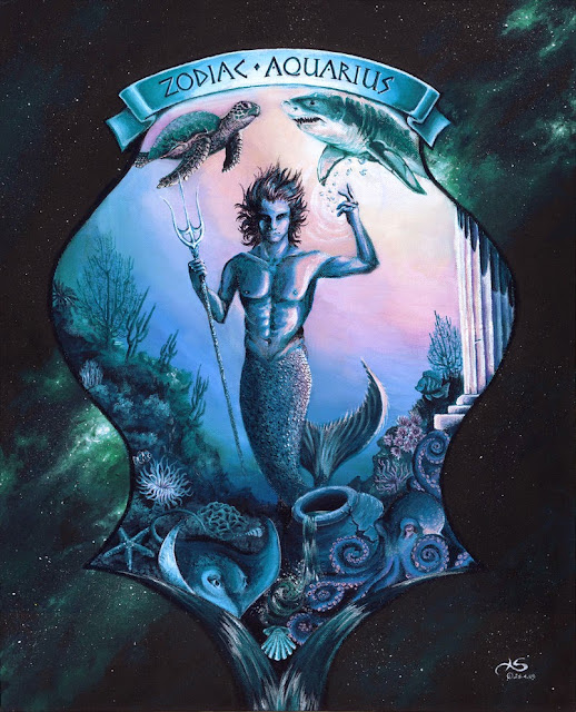 Zodiac Aquarius by Plastic Wing