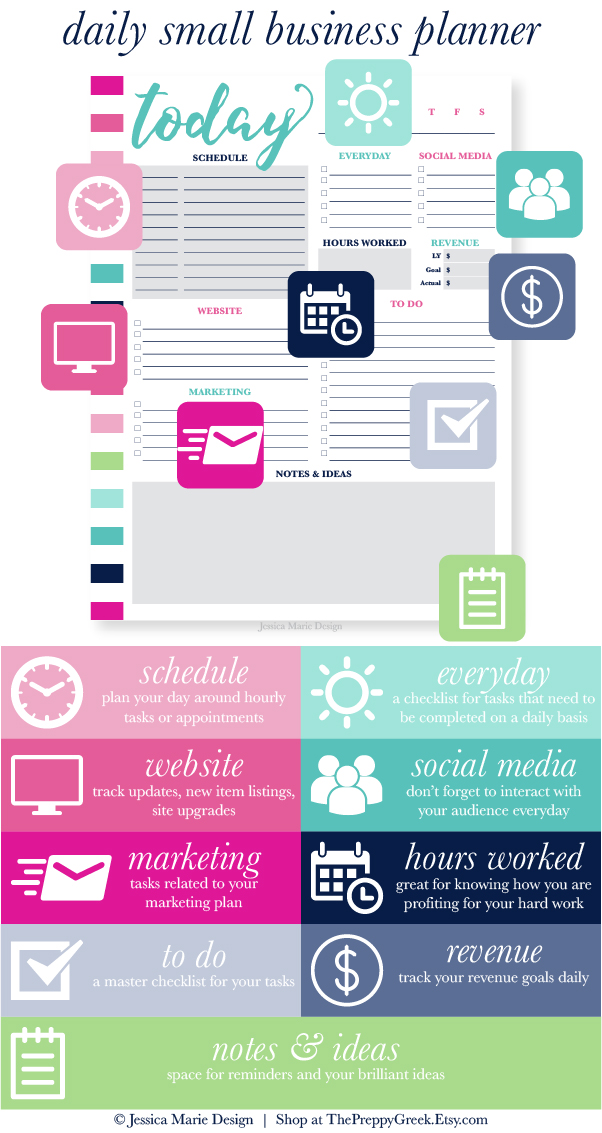 Jessica Marie Design Blog Stay Productive With Printable