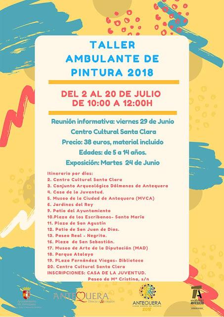 Taller de Pintura Ambulante en Antequera 2018