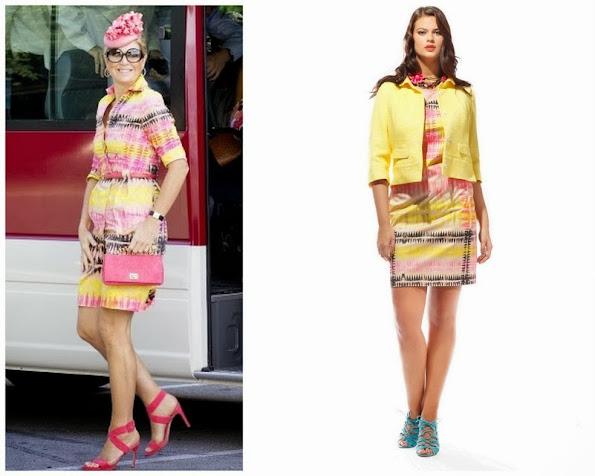 Queen Maxima wore Natan Multicolored Dress
