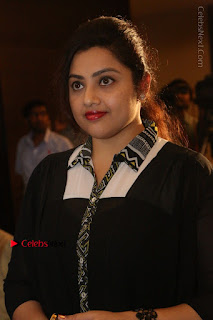 Tamil Actress Meena Latest Stills in Black Dress at TSR TV9 Awards Press Meet  0042.JPG