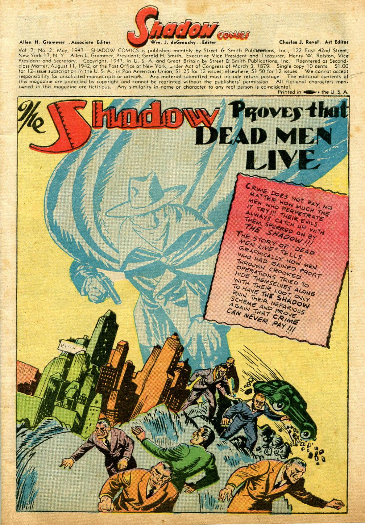 Read online Shadow Comics comic -  Issue #74 - 3