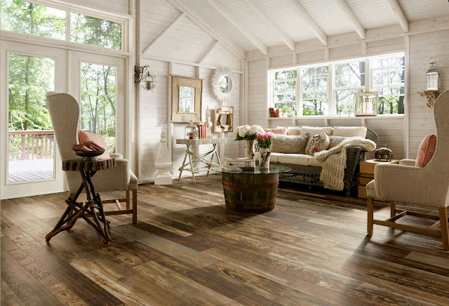 Is it hardwood or is it an alternative wood floor? You'll never tell the difference!