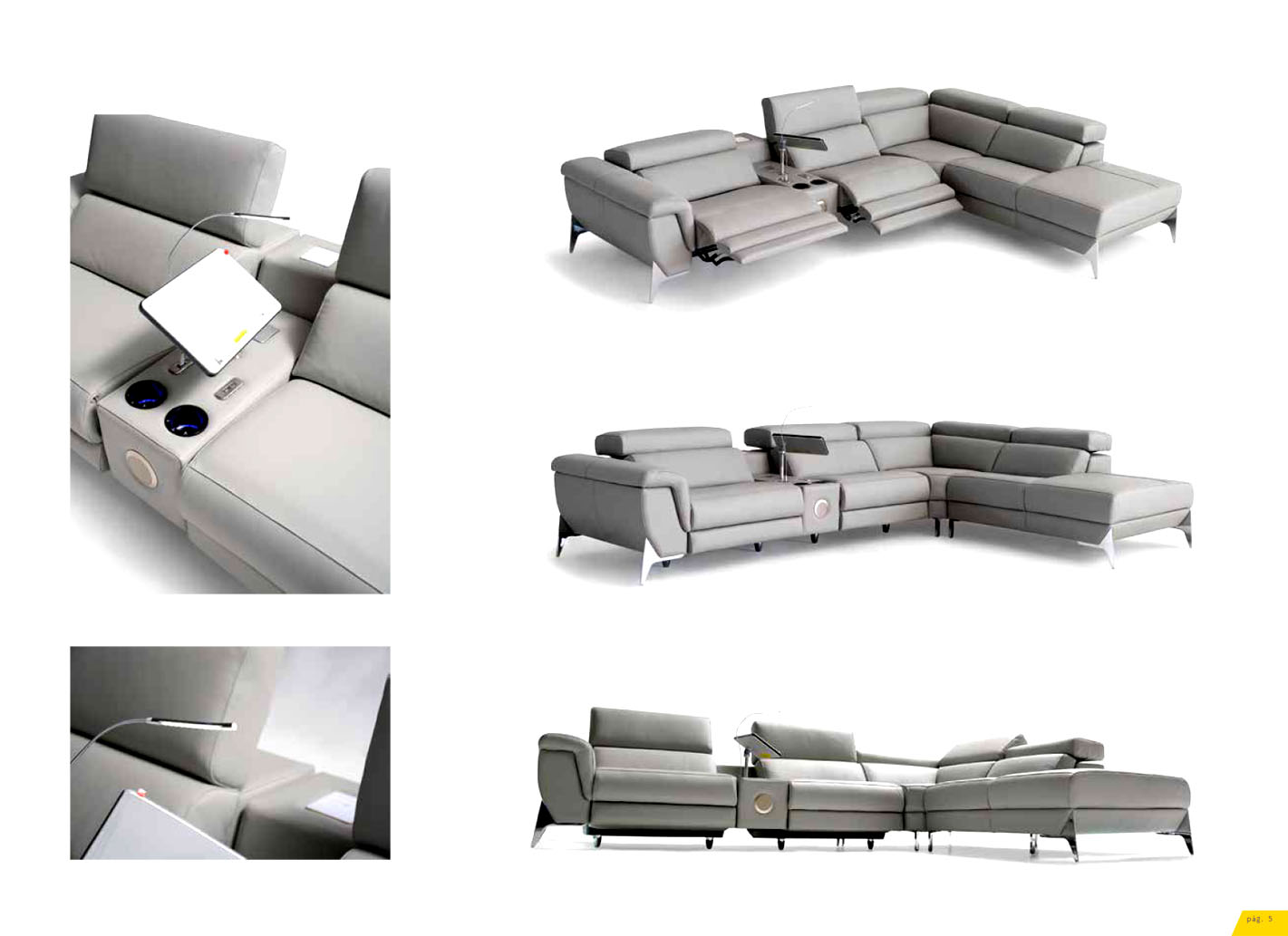 Sofas relax motor electrico decolevel sofas muebles for Sofas relax con motor