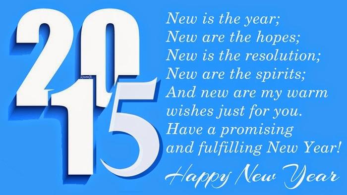 Ucapan Selamat Tahun Baru Bahasa Inggris - Happy New Year 2015