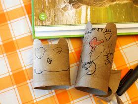 Toilet Roll Bears for hibernating bear craft