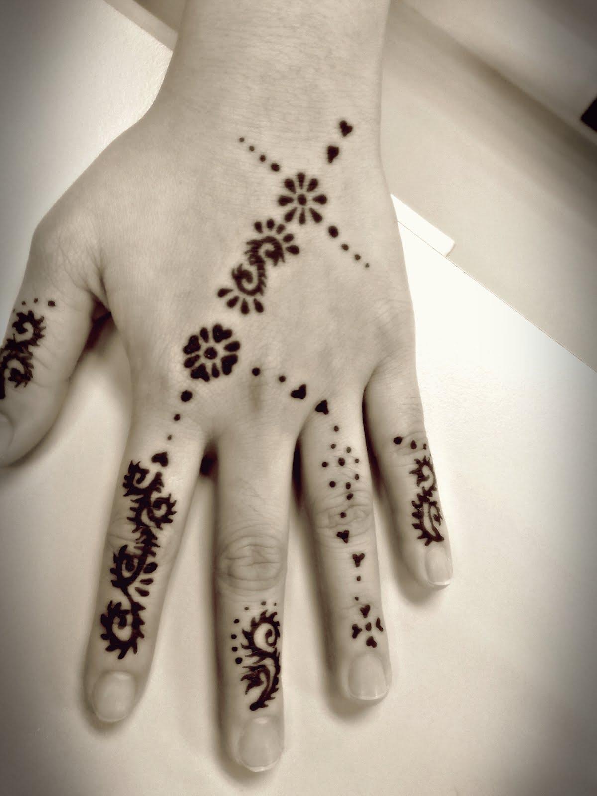 Gambar Henna Mudah Ditiru Balehenna