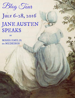 Book Cover: Jane Austen Speaks About her Life, the Modern World, & Heavenly Pursuits by Maria-Emilia de Medeiros