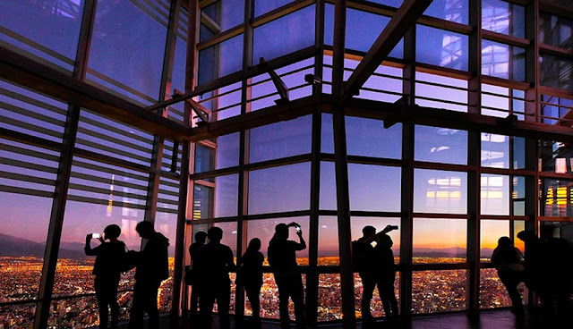 Observatório Sky Costanera em Santiago do Chile