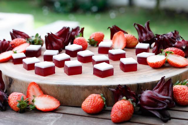 Strawberry, Hibiscus and Coconut Cream Gummy Lollies