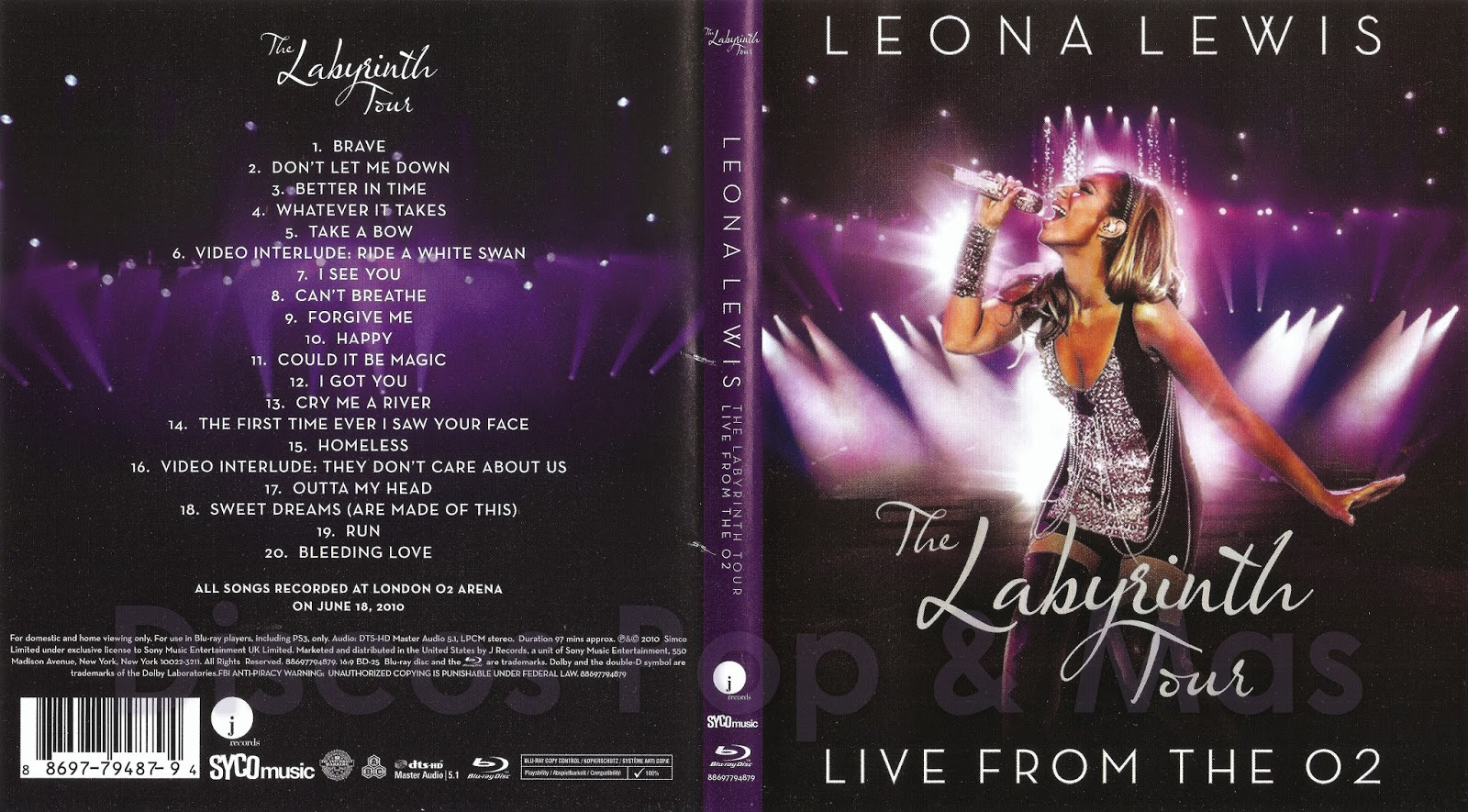 Leona Lewis: The Labyrinth Tour Live From The O2 London ...