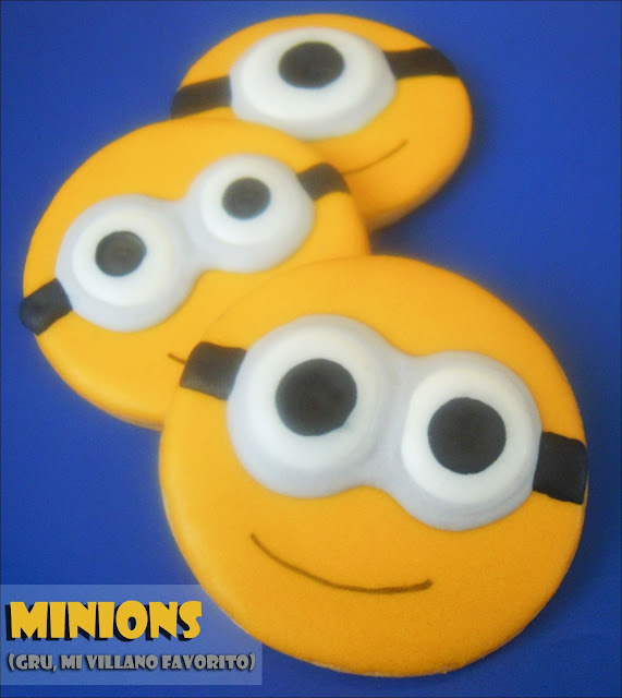 Galletas decoradas: Galletas de Minions (Gru, mi villano favorito)