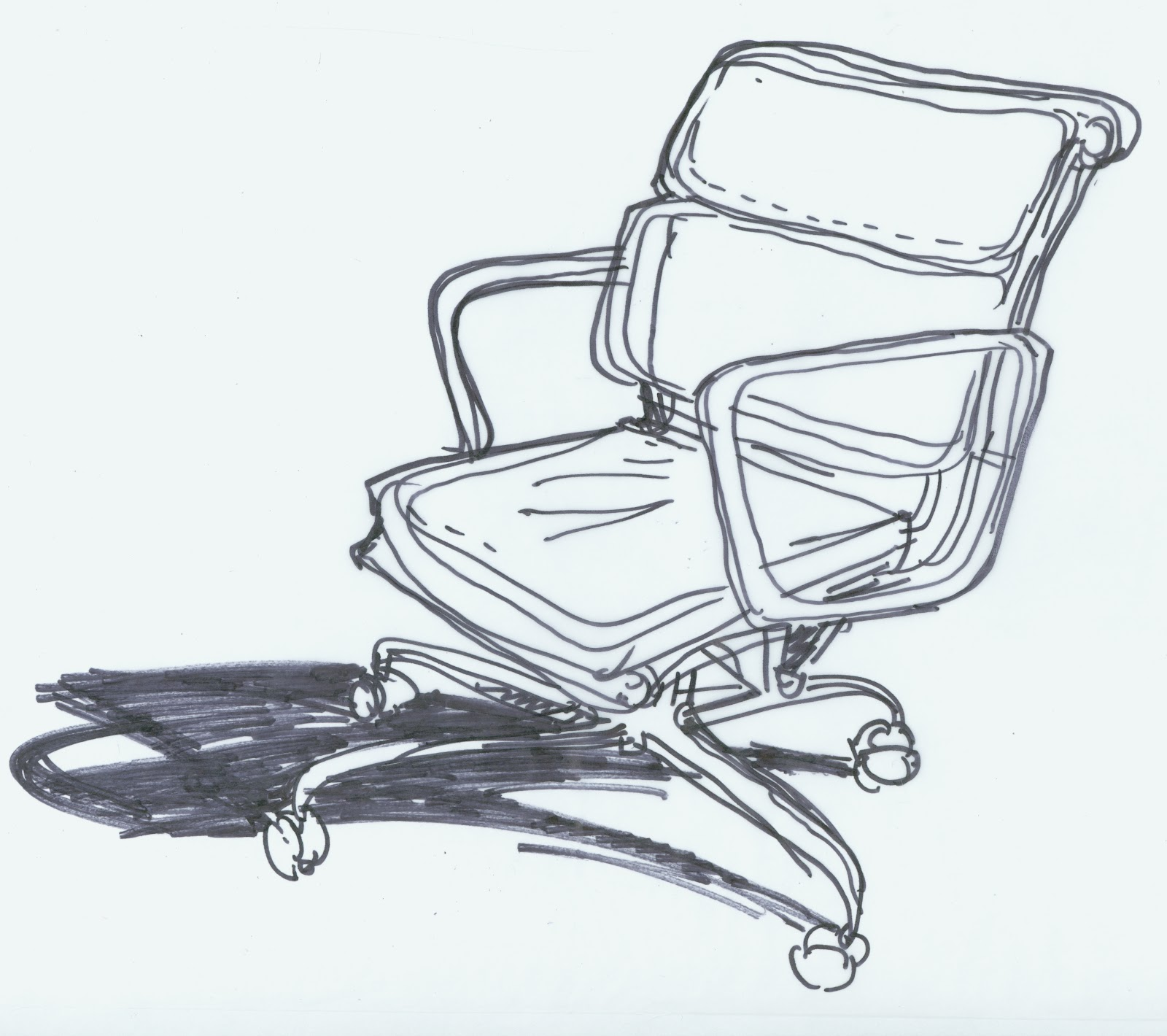 Eames Chair Drawing Day 183 Drawing Eames Chair Robert Plant Drawing A Day